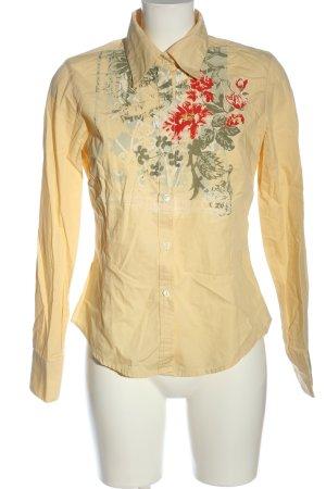 Timberland Camicia a maniche lunghe giallo pallido motivo floreale elegante