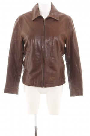 Timberland Leather Jacket brown casual look