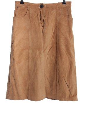 Timberland Falda de cuero marrón look casual