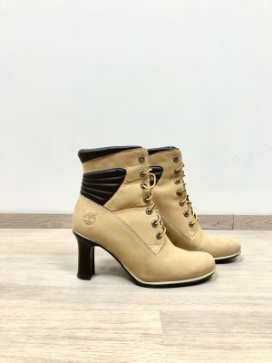 TIMBERLAND Nubuck Leather High Heel Lace Up Ankle Boots 37,5