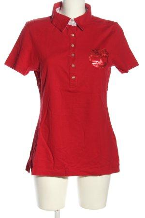 Timberland Camiseta tipo polo rojo look casual