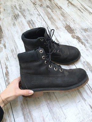 Timberland Bottes de neige noir-gris anthracite cuir