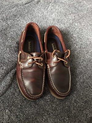 Timberland Zapatos de marinero marrón oscuro-color oro