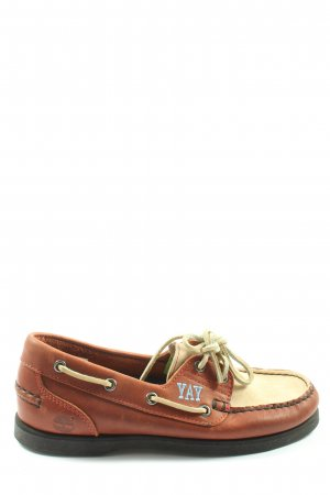 Timberland Lace Shoes brown-cream casual look
