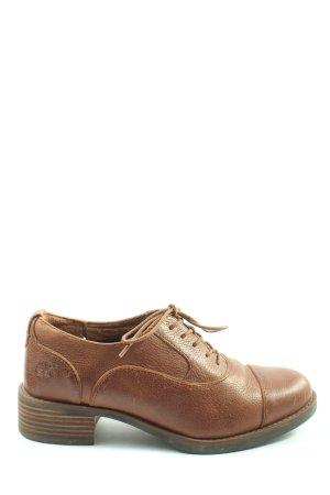 Timberland Sznurowane buty brązowy W stylu casual