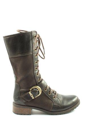 Timberland Aanrijg laarzen bruin-zwart casual uitstraling