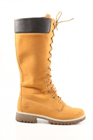 Timberland Lace-up Boots light orange-black casual look