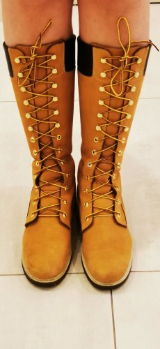 Timberland Lace-up Boots gold orange leather