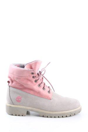 Timberland Schnürstiefel hellgrau-pink Casual-Look