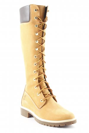 Timberland Lace-up Boots dark brown-camel classic style