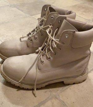 Timberland Aanrijg laarzen wit-zilver