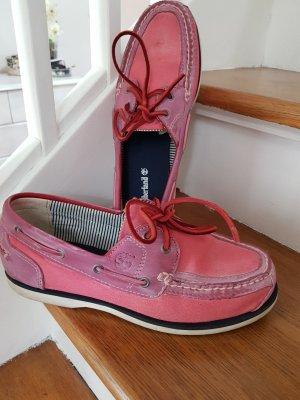 Timberland Chaussures bateau rose-magenta