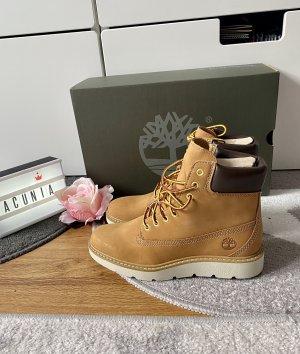 Timberland Schuhe Boots Leder braun Größe 37