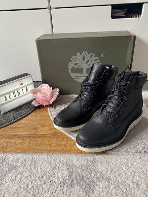 Timberland Schuhe Boots Leder schwarz Größe 37
