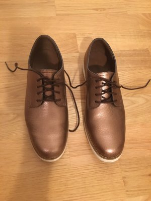 Timberland Lace Shoes bronze-colored