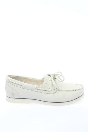 Timberland Zapatos de marinero blanco estampado temático look casual