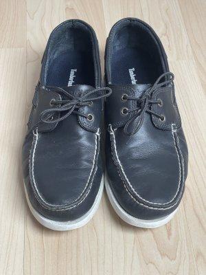 Timberland Chaussures bateau blanc-bleu foncé