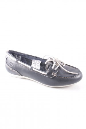 Timberland Zapatos de marinero azul oscuro-blanco estilo clásico