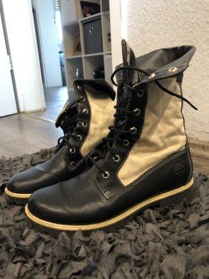 Timberland Aanrijg laarzen zwart-licht beige