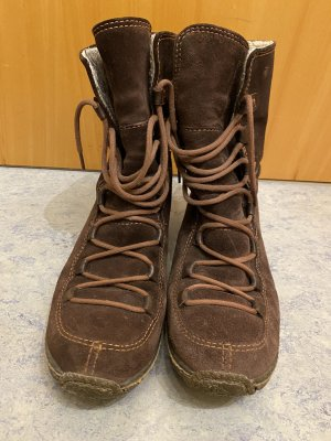 Timberland Stivale in pelliccia marrone-marrone scuro