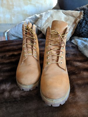 Timberland Booties light brown leather