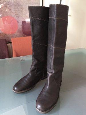 TIMBERLAND Stiefel braun 41 7,5 mattes Leder flach Hochschaft