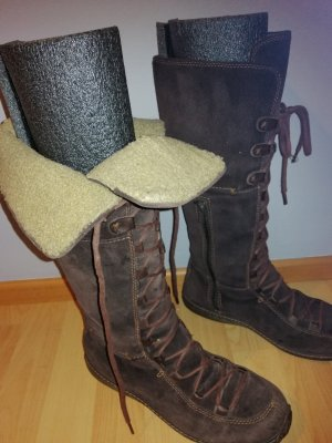 Timberland Bottes à lacets brun cuir