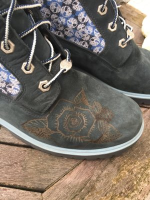 Timberland Stivale stringato blu acciaio
