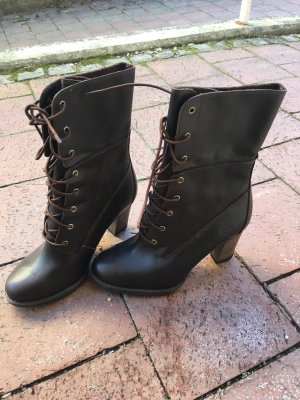 Timberland Stiefel • NEU • Echtleder • Absatzhöhe 8 cm • Farbe Braun
