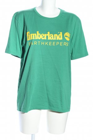 Timberland T-Shirt grün-blassgelb Schriftzug gedruckt Casual-Look