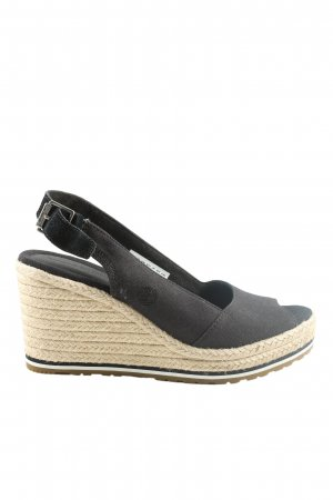 Timberland Wedges Sandaletten creme-schwarz Casual-Look