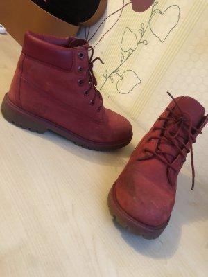 Timberland Aanrijg laarzen donkerrood