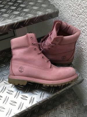 Timberland Aanrijg laarzen roségoud-stoffig roze