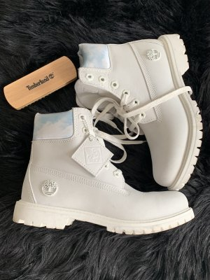 Timberland Winter Booties white-azure leather