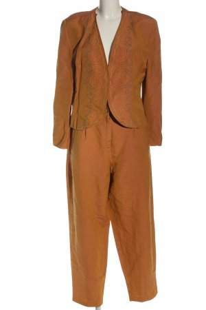 Time Collection Jersey twin set licht Oranje casual uitstraling