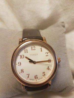 Analoog horloge brons-bruin