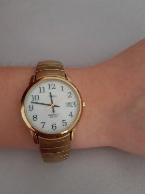 Timex Damenuhr gold Metallband