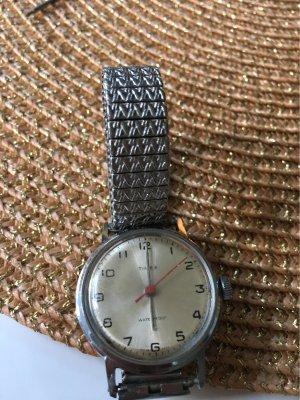 100% Fashion Orologio con cinturino di metallo argento