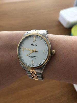 Timex Zegarek z metalowym paskiem złoto-srebrny