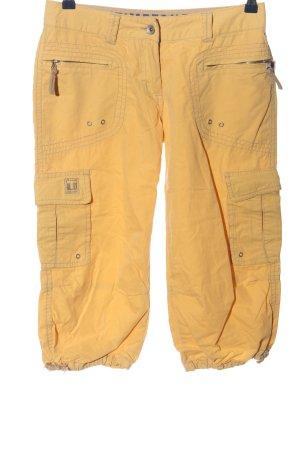 Timezone Pantalon 3/4 orange clair imprimé avec thème style décontracté