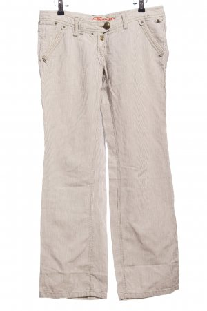Timezone Baggy Pants weiß-hellgrau Streifenmuster Casual-Look
