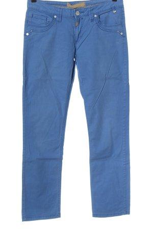 Timezone Pantalone a vita bassa blu stile casual