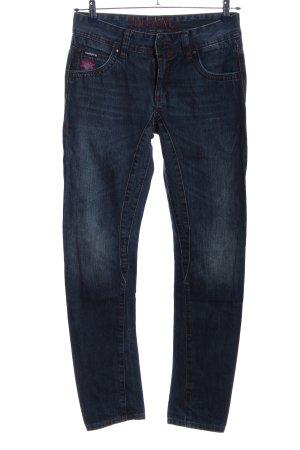Maloja Jeans taille basse bleu style décontracté