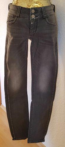 Timezone Jeans taille basse gris coton