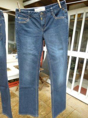 Timezone Jeans coupe-droite bleu foncé