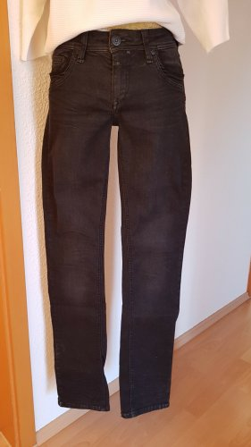Timezone Jeans taille basse gris anthracite coton
