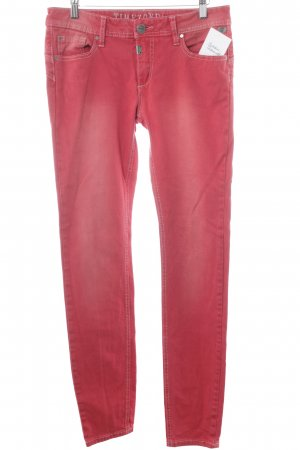 Timezone Slim Jeans rot Used-Optik