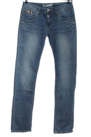 Timezone Jeans a gamba dritta blu stile casual