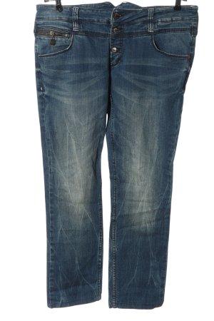 Timezone Jeans coupe-droite bleu style décontracté