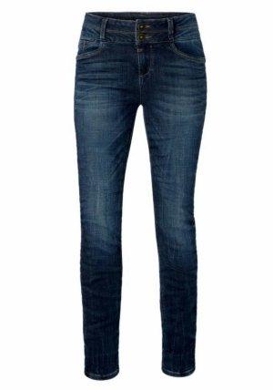 Timezone W28/L32 Damen Jeans EnyaTZ Slim Fit Leg Classic indigo